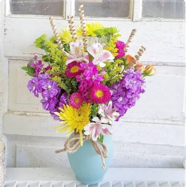 Playful Posies Vase Arrangement