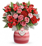 Playfully Pink Vase Arrangement