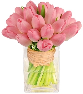 PLEASANTLY PINK TULIP BOUQUET