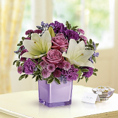 Pleasing purple All-Around Floral arrangement