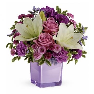 Pleasing Purple Fresh Arrangement