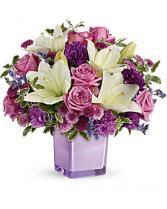 Pleasing Purple Hand-glazed ceramic planter
