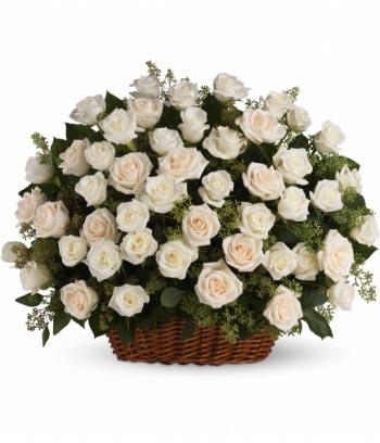 Plegaria Blanca Arreglo Floral para Condolencias