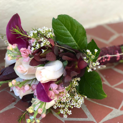 Plum and Pink Hand Bouquet