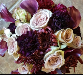 Plum Bridal Bouquet