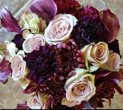 Plum Bridal Bouquet