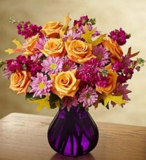 Plum Crazy for Autumn In Ruebenesque Deep Purple Vase