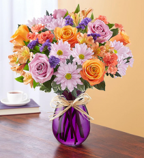 Plum Crazy For Fall Vase Arrangement