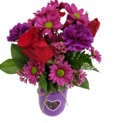 Plum Crazy for You Vase Arrangement
