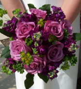 Plum Crazy Hand Tied Bouquet