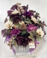 Plum & Ivory Bouquet Silk