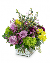 Plum Paradise Flower Arrangement in Burnt Hills, New York | THE COUNTRY FLORIST
