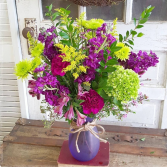 Plum Perfect Vase Arrangement