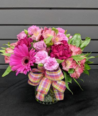 Plum Purdy Vase arrangement