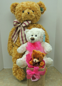PLUSH BEARS SMALL - MEDIUM - LARGE