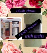 Plush Blanket, Candle Warmer, Melts
