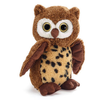 Plush Brown Spotted Owl
