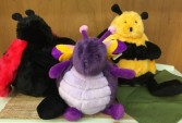 Plush Butterfly, Bee and Ladybug