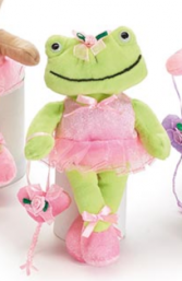 Plush Frog Ballerina Stuffed Animal