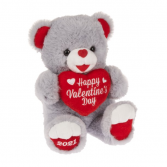 Plush, Gray Sweetheart Teddy Bear Add On At Check Out