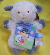 Plush Lamb with attached book