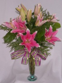 PLUSH PINK LILLIES Florist - Flowers Arrangememts for Every Special Occasion