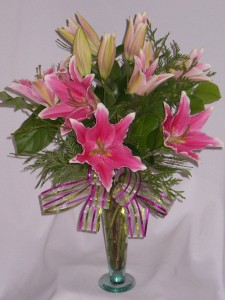 PLUSH PINK LILLIES Florist - Flowers Arrangememts for Every Special Occasion. Flowers Directly From AMAPOLA BLOSSOMS FLOWERS