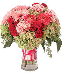 Plush Pink Posy Floral Arrangement
