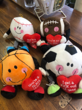 Plush Valentines Sport Stuffed Toy