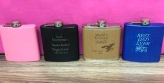 Pocket flask Personalized engraved gift