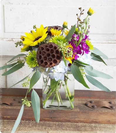 Pods and Petals  Vase Arrangement
