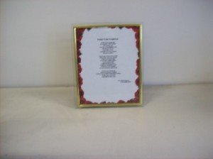 "POEM IN A FRAME ""KEEP YOUR HEAD UP"" GIFT in Detroit, MI 