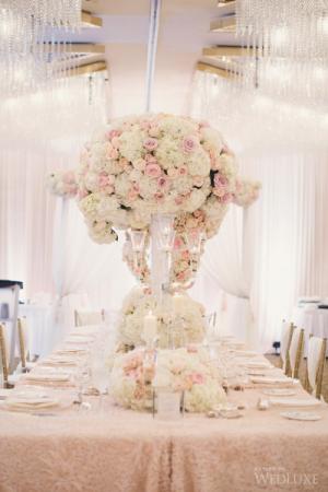 poetic elegant blush  center table arrangement