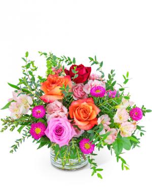 Poetic Rose Flower Arrangement in Nevada, IA | Flower Bed
