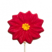 Poinsettia Chocolate Lollypop Gourmet Food