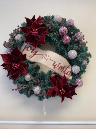 Poinsettia Wreath Christmas Wreath