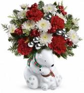 Polar Bear Hug Christmas Arrangment