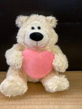 Polar bear with pink heart