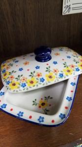 Polish Pottery  Butter Dish