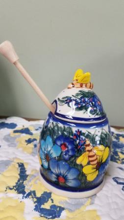 Polish Pottery Honey keeper Gift