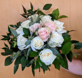 Polished in Pinks and Ivory Bridal bouquet In-House Special