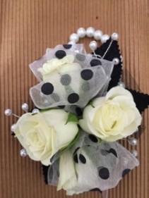 Polka Dot Fun Corsage or Wristlet