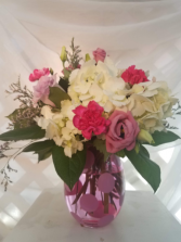 Polka Dot Posies Mixed Vase Arrangement