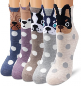 Polka Dot Puppy Socks, sold by single pair