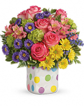 POLKA DOT Vase Arrangement