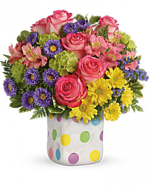 POLKA DOT Vase Arrangement in Longview, TX | ANN'S PETALS