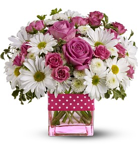 Polka Dots and Daises Bouquet