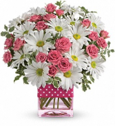 Polka Dots and Posies Arrangement