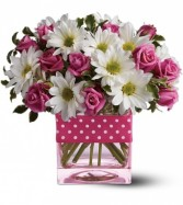 Polka dots and Posies  Birthday Arrangement (T52-3A)
