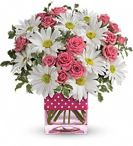 Polka Dots and Posies Fresh arrangenment